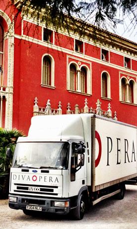 Diva Opera Touring Opera Lorry